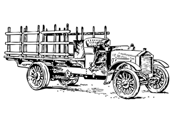 Coloring page old truck