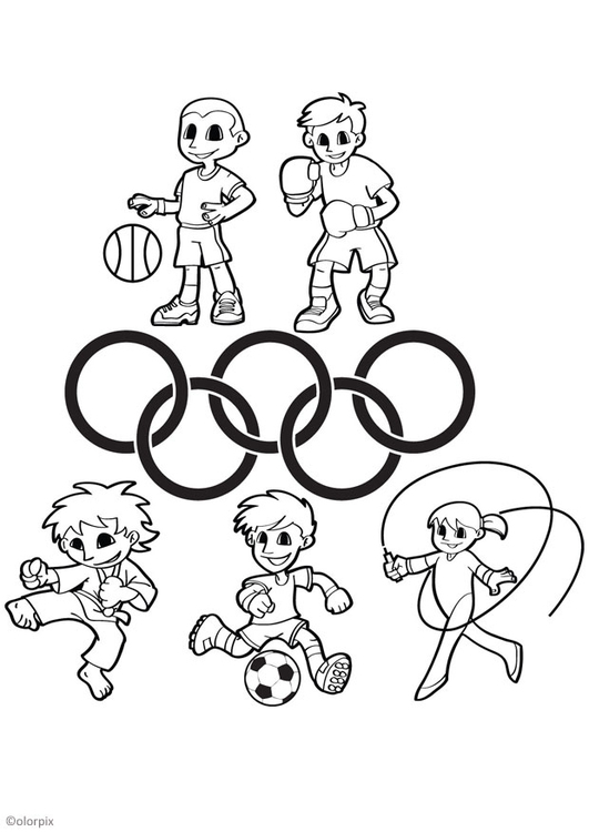 Coloring page Olympic Games