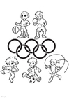 Coloring pages Olympic Games