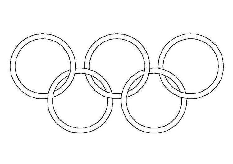 Coloring page olympic rings
