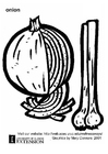 Coloring page onion