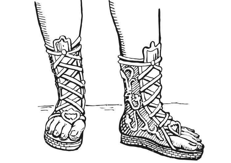 Coloring page open boot - Greek and Romans