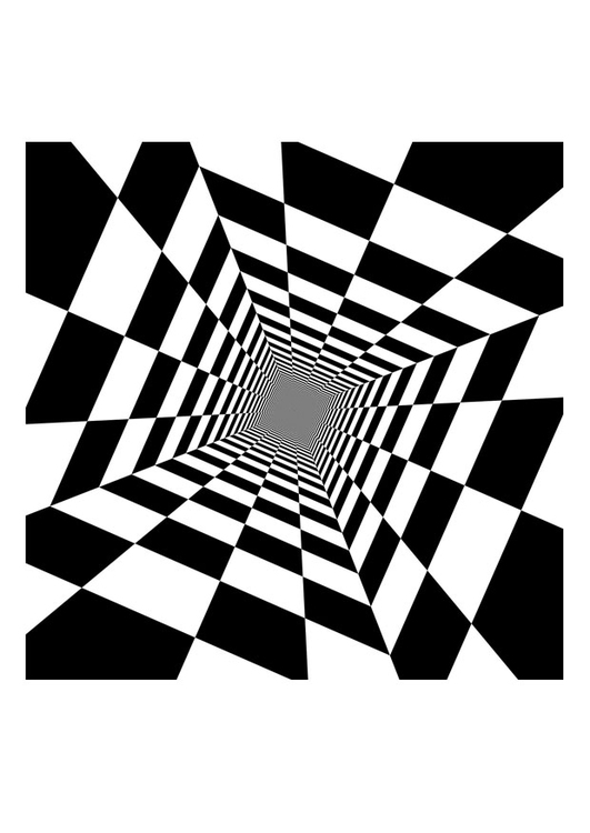 Coloring page optical illusion