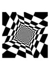 Coloring pages optical illusion