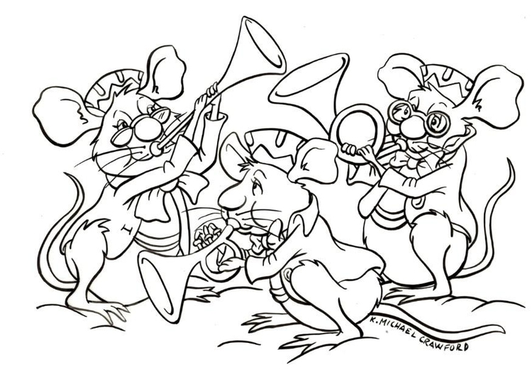 Coloring page orchestra