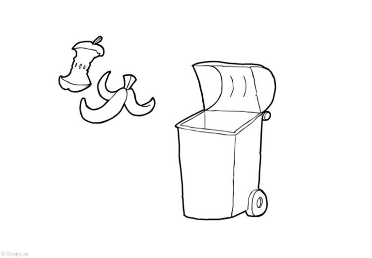 Coloring page Organic waste