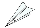 Coloring page origami - airplane