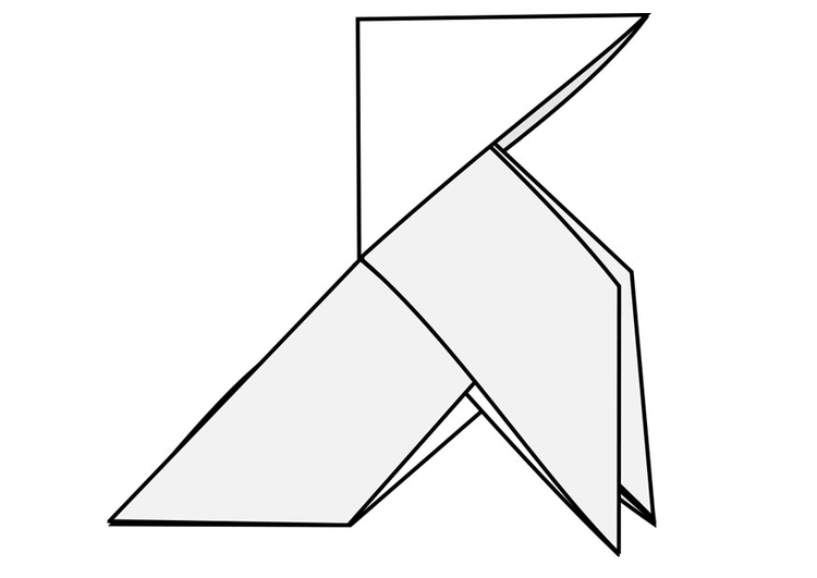 Coloring page origami