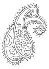 Coloring page ornament
