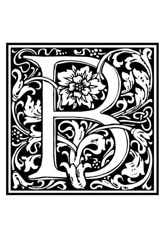 Coloring Page Ornamental Alphabet B Img 28647