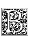 Coloring page ornamental alphabet - B