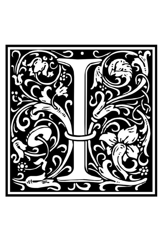 Coloring Page Ornamental Alphabet
