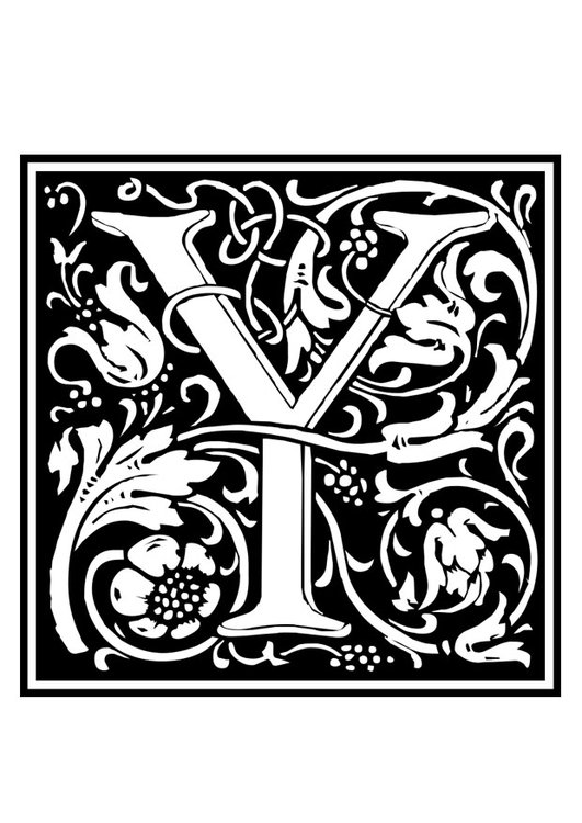 Coloring page ornamental alphabet y img 28642 coloring page ornamental alphabet y thecheapjerseys Image collections