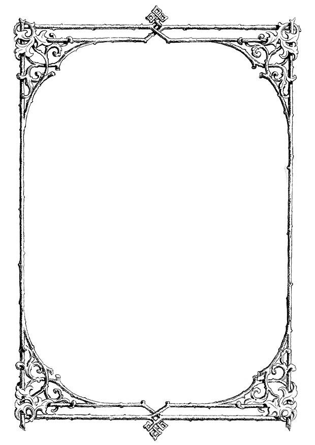 coloring page ornate frame img 11230