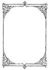 Coloring page ornate frame