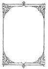 Coloring pages ornate frame