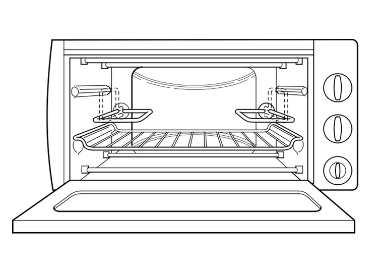 Coloring page oven