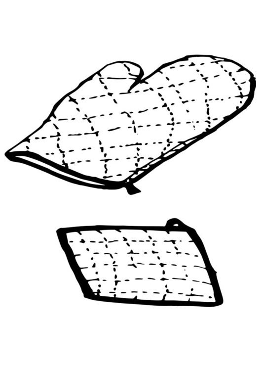 Coloring page oven glove - pot holder
