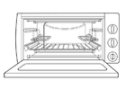 Coloring pages oven