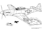 Coloring page P 51 Mustang