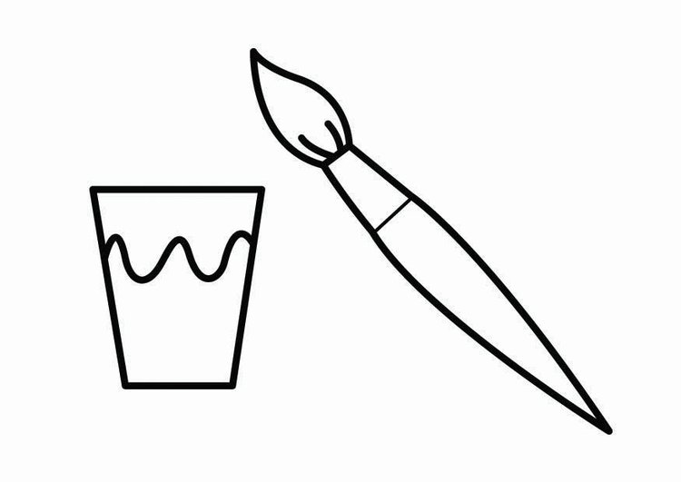 Coloring page paint corner