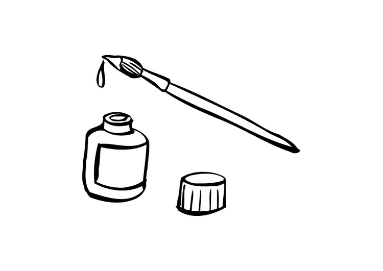 Coloring page paint