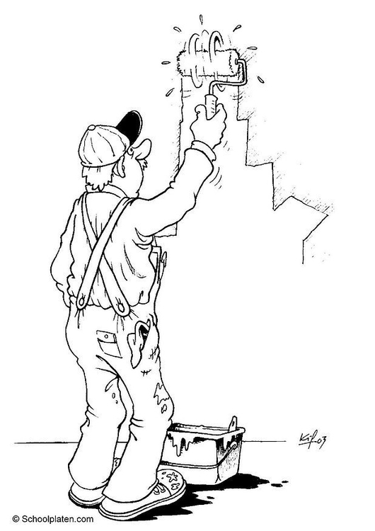 Coloring page painter