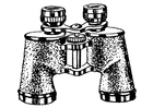 Coloring page pair of binoculars