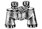 Coloring pages pair of binoculars