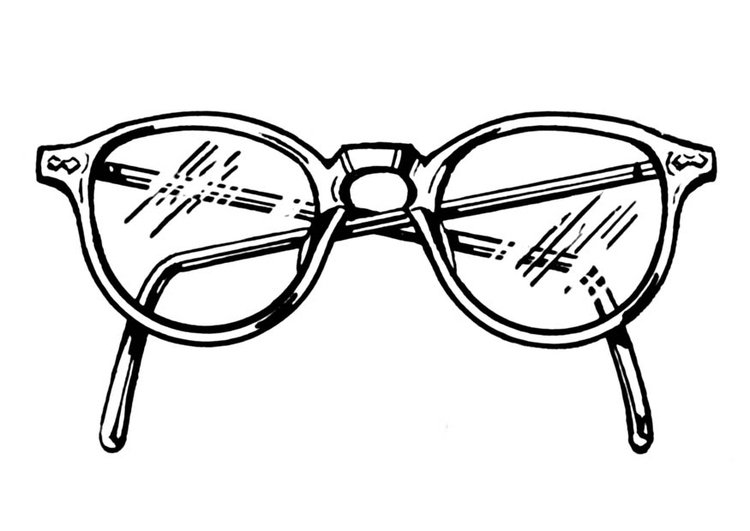 Coloring Page Pair Of Glasses