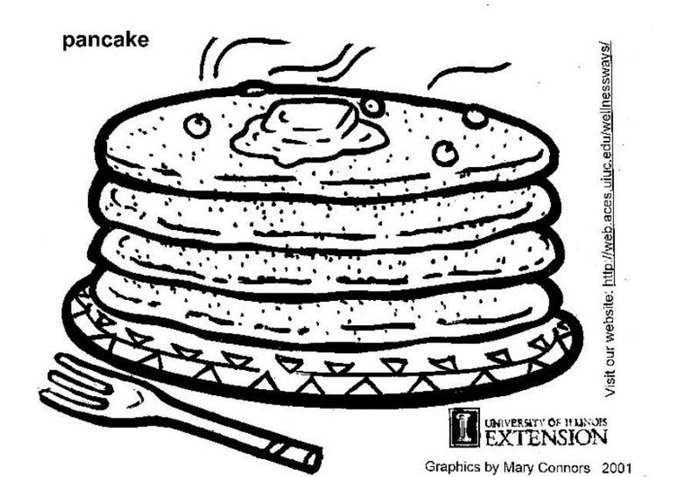 Coloring page pancakes