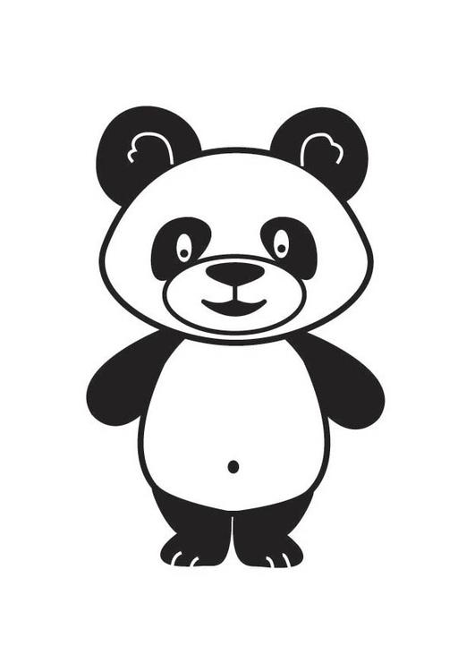 Coloring page Panda - img 17687.