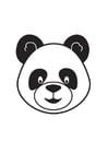 Coloring page Panda Head