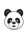Coloring pages Panda Head