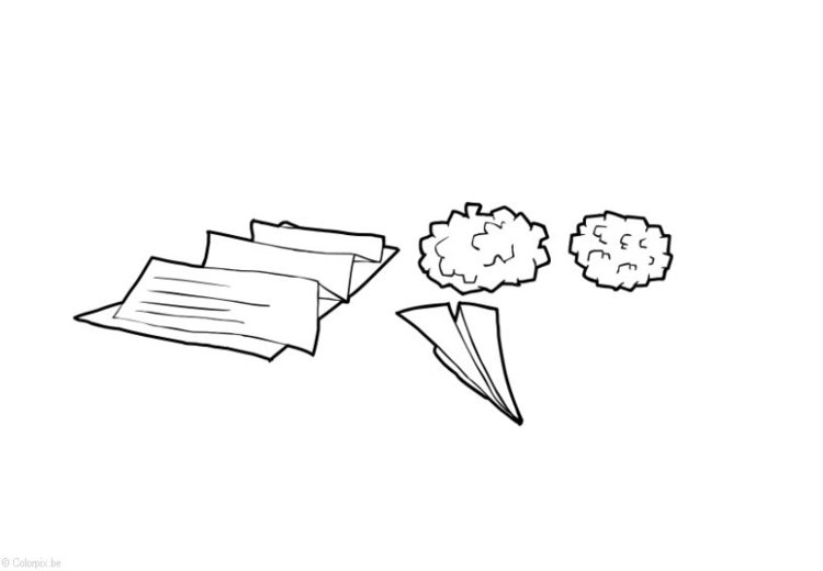 Coloring page Paper and Cardboard