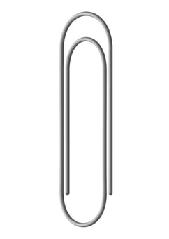 Coloring page paperclip