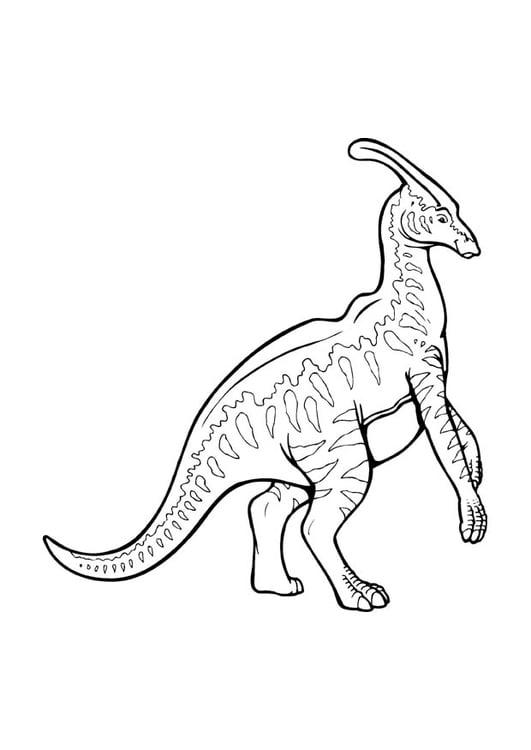 coloring page parasaurolophus