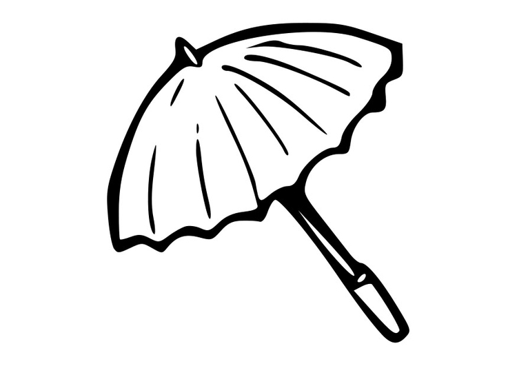 coloring page parasol  free printable coloring pages