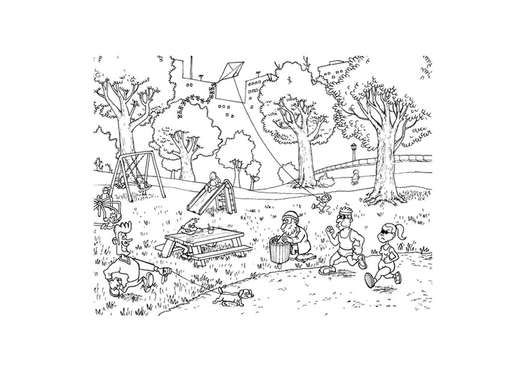 coloring page park