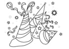 Coloring page party hats