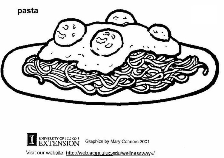Coloring page pasta