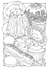 Coloring pages Pastry
