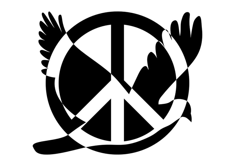 Coloring page peace