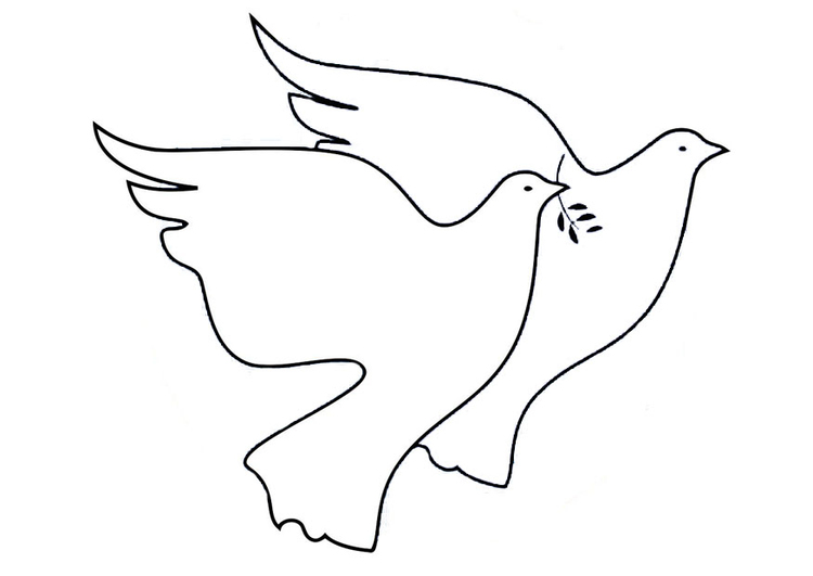 Coloring page peace doves