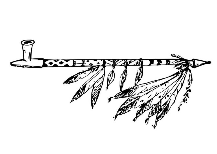 Coloring page peace pipe