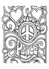 Coloring pages peace