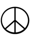 Coloring page peace sign