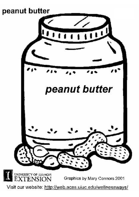 Coloring page peanut butter