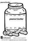 Coloring pages peanut butter