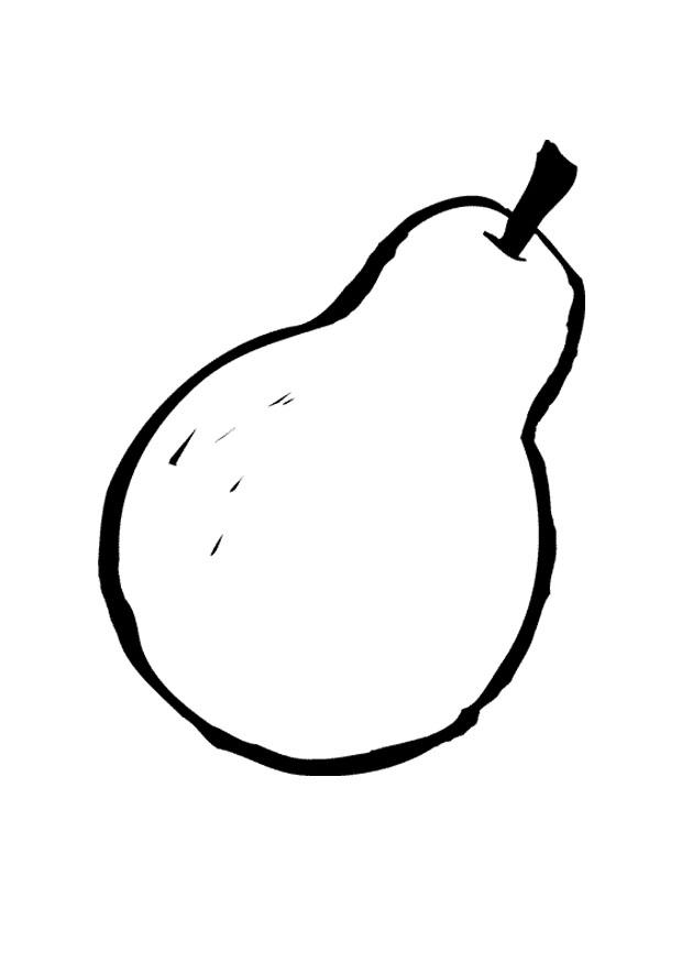Coloring page pear img 9553